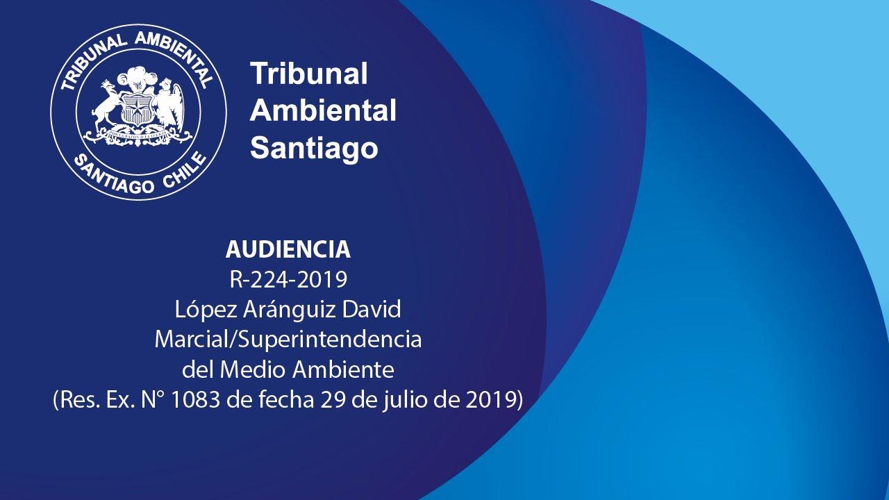 Audiencia en reclamación, rol R-224-2019, López Aránguiz David Marcial